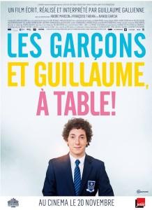 Affiche du film Les garçons et Guillaume, à table !