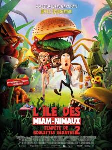 Affiche du film Tempête de boulettes géantes 2 : L'île des Miam-nimaux