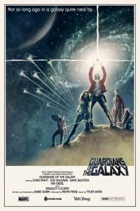 Affiche alternative des Gardiens de la galaxie version Guerre des étoiles