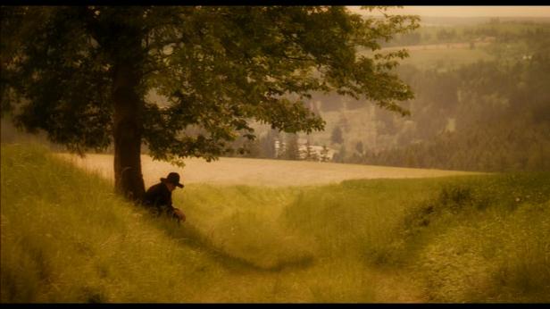 Photo vieux magicien sous un arbre