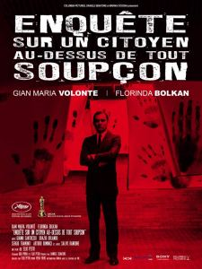 Affiche réédition du film Enquête sur un citoyen au-dessus de tout soupçon