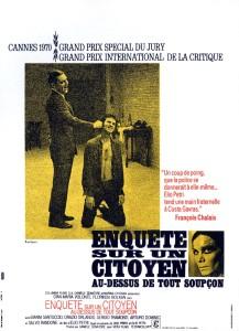 Affiche du film Enquête sur un citoyen au-dessus de tout soupçon