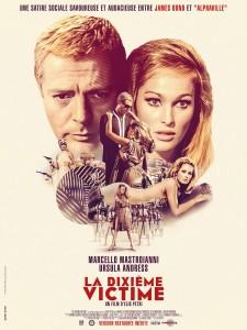 Affiche réédition du film La dixième victime