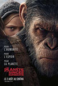 Affiche du film La planète des singes suprématie