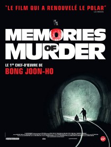 Affiche récente du film Memories of murder